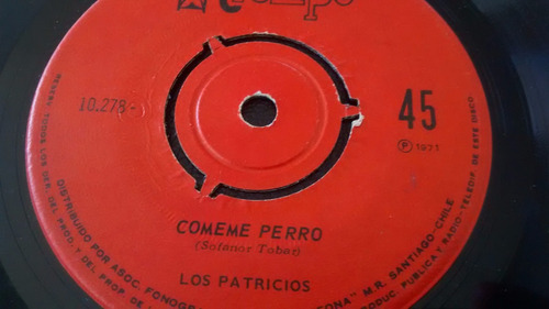 vinilo single de los patricios - comeme pero ( f121