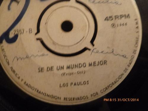 vinilo single  de los paulos  - - cruel  ( b73