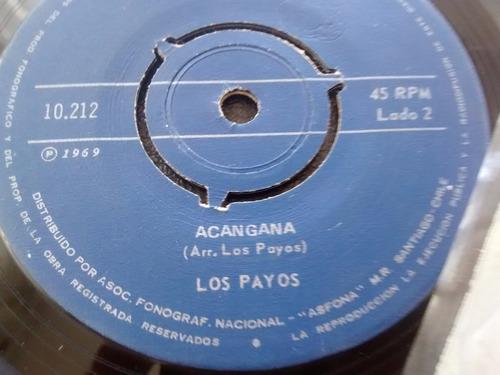 vinilo single de los payos -la pequeña anita( k64