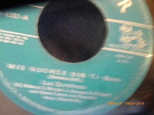 vinilo single de los quincheros -- suerte loca( s142