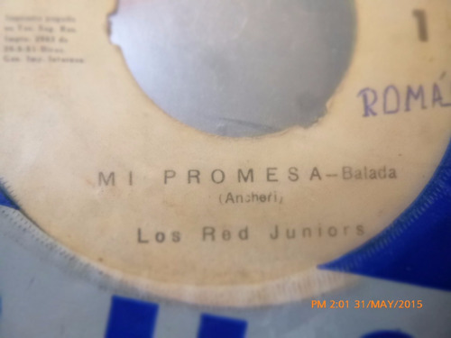 vinilo single de los red juniors - te  lo enseñare   ( h77