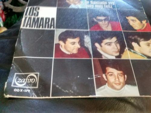 vinilo single de los tamara - a santiago voy ( p32