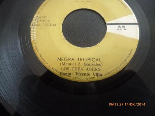 vinilo single de los teen agers -- la negra celina( a137