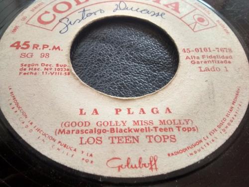 vinilo single de los teen tops - la plaga(  q20