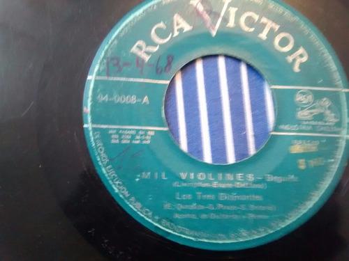vinilo single de los tres diamantes - tango azul ( k26