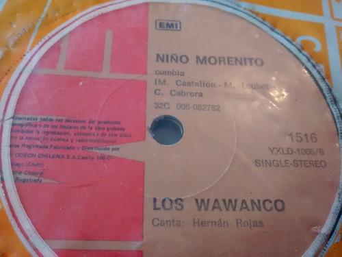 vinilo single de los wawanco - justiniana ( p78