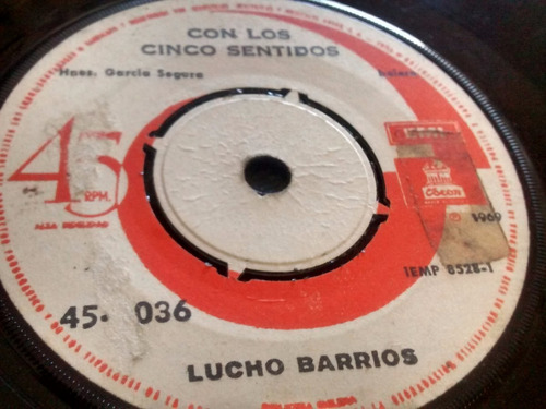 vinilo single de lucho barrios - celos sin motivos ( e112