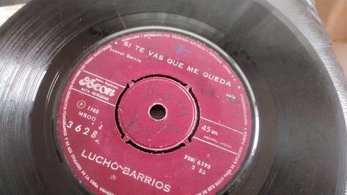 vinilo single de lucho barrios  --triste despedida ( u62