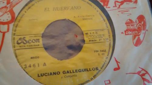 vinilo single de luciano galleguillos   consejo de oro( p169