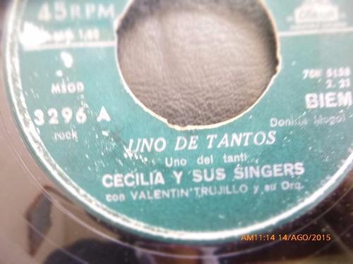 vinilo single de luis alberto martinez  -uno de tanto  (1544