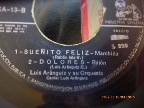 vinilo single de luis aranguiz - -sueñito feliz  ( r111