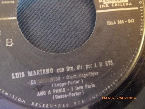 vinilo single de luis mariano --magdalena ( s59