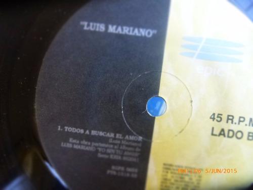 vinilo single de luis mariano  todos a buscar el amor -( q47