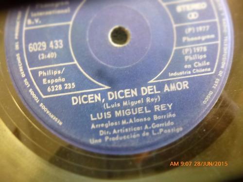 vinilo single de luis miguel rey  -- esa mujer ( n91
