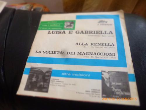 vinilo single de luisa e grabriella - alla renella ( q8