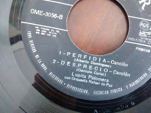 vinilo single de lupita  palomera - vereda tropical -( e57