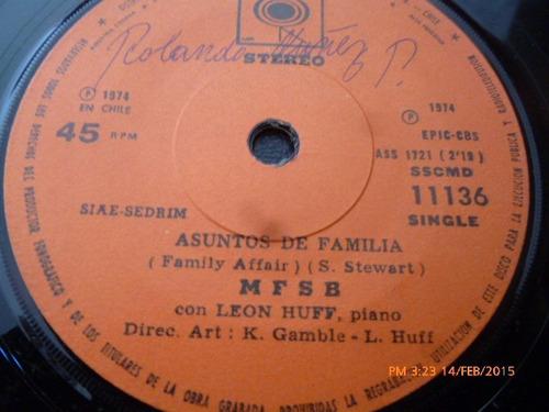 vinilo single de m .f.s.b .  --asuntos de familia ( i42