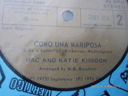 vinilo single de mac and katnie kissoqnn .como una mari( b77