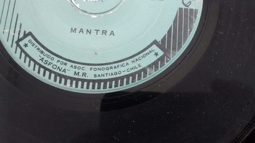 vinilo single de  mantra -saravah  ( u87