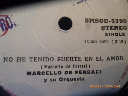 vinilo single de marcello de ferrari - gracias por olv( s123