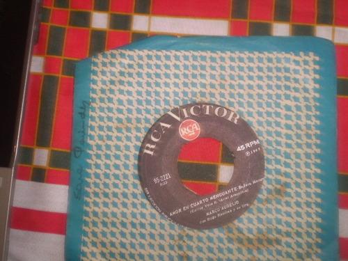 vinilo single de marco aurelio  tres palabras ( b24