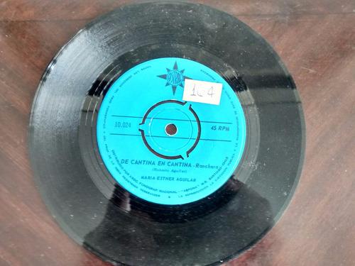vinilo single de maria esther aguilar - canta canta ( r22