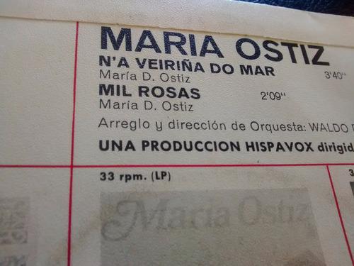 vinilo single de maria ostiz - mil rosas ( e99