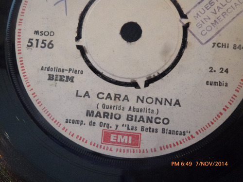 vinilo single de mario blanco -- mi pedido( a107