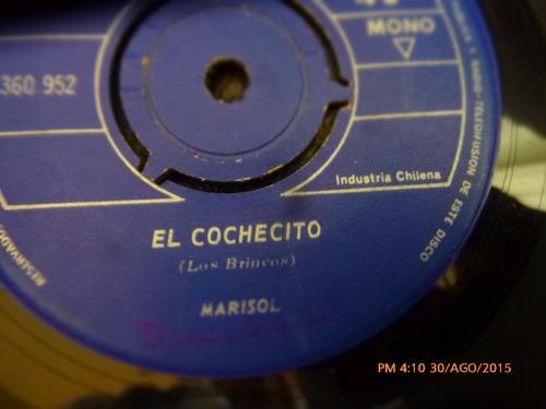 vinilo single de marisol  --el cochero   (  u130