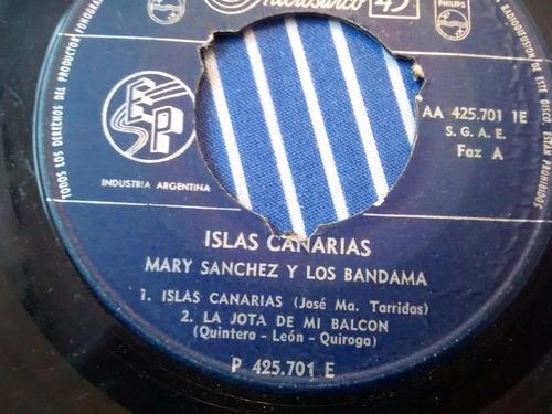 vinilo single de mary sanchez y los bandama  ( k48