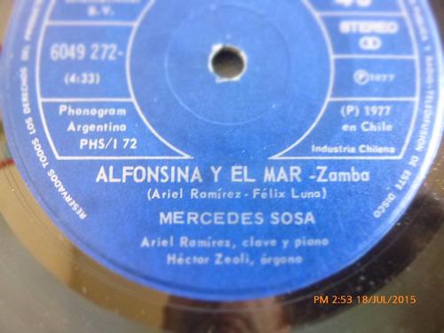 vinilo single de mercedes sosa --la oncena  ( r34