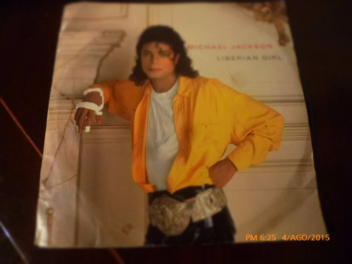 vinilo single de michael jackson - liberian girl  ( n2