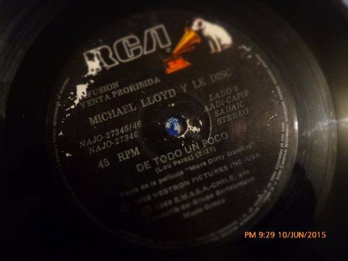 vinilo single de  michael lloyd y le disc  ( q36