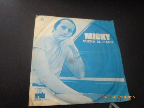 vinilo single de micky -es bonito estar de vuelta ( b68