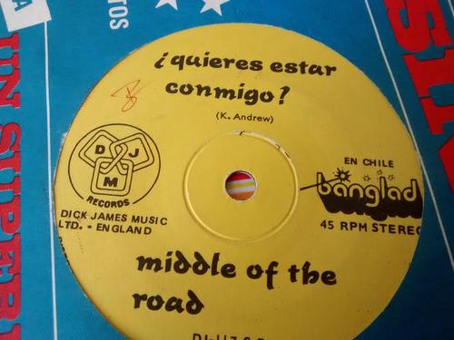 vinilo single de middle of the road -quieres estar co ( b115