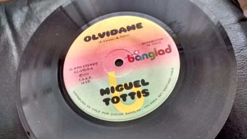 vinilo single de miguel tottis  --  dime ( u90