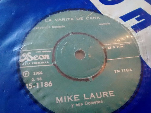 vinilo single de mike laure - la banda esta borracha( t35