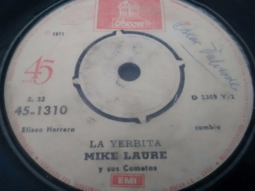 vinilo single de mike laure - la secretaria( p136