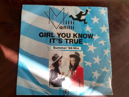 vinilo  single de milli vanilli -  girl you know it's ( q110