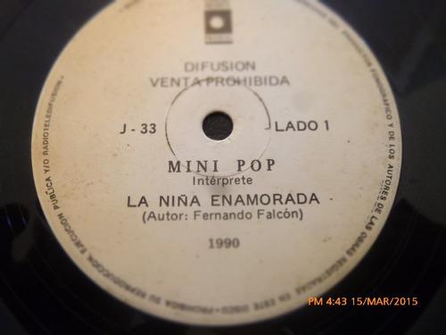 vinilo single de mini pop -- la niña enamorada ( c106