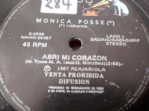 vinilo single de monica posse - abri mi corazon ( n64