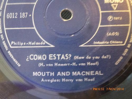 vinilo single de mouth and macneal -- como estas ( s127-u120