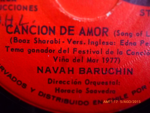 vinilo single de navah baruchin - cancion de amor -- ( n4