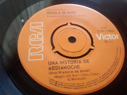 vinilo single de nicola di bari  una historia de media( q116