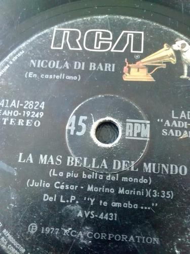vinilo single de nicola di bari - viejo   ( f76