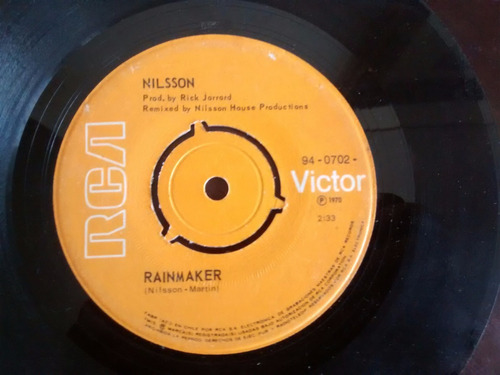 vinilo single de nilsson - rainnaker ( j86