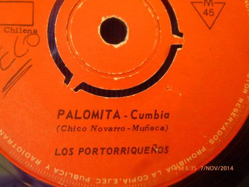 vinilo single de ñlos portoriqueños -- aguita santa ( s89