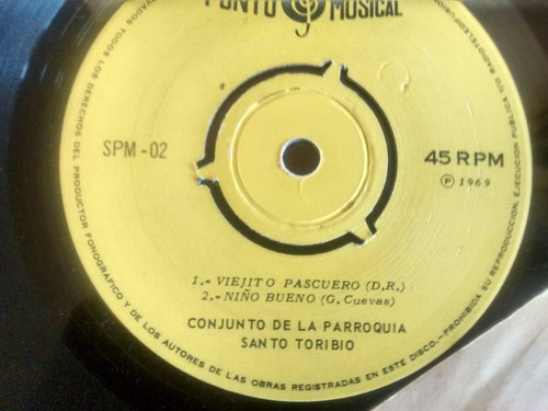 vinilo single de noche de paz - viejito pascuero ( f54