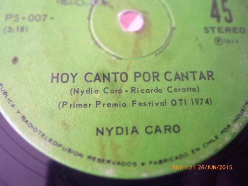 vinilo single de nydia caro --hoy canto solamente por ( n110