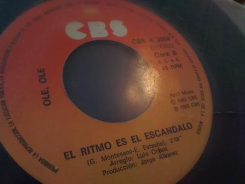 vinilo single de ole , ole - escandalo ( p104